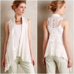 Anthropologie Meadow Rue Draped Lace vest